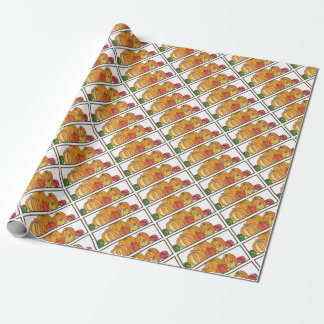 Orange Pumpkin Patch Gift Wrap