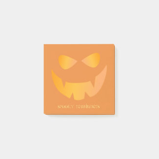 Orange Pumpkin Spooky Reminders Post-it® Notes