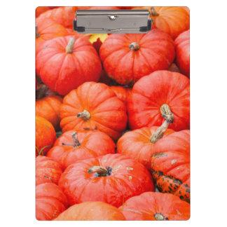 Orange pumpkins at market, Germany Clipboard