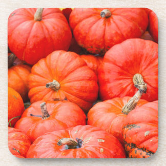 Orange pumpkins at market, Germany Coaster
