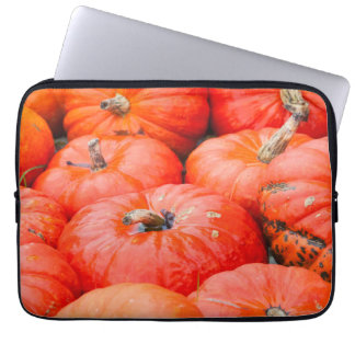 Orange pumpkins at market, Germany Laptop Sleeves