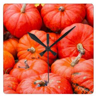 Orange pumpkins at market, Germany Square Wall Clock