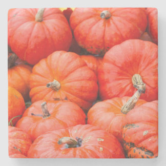 Orange pumpkins at market, Germany Stone Coaster