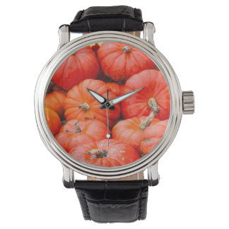 Orange pumpkins at market, Germany Wristwatch