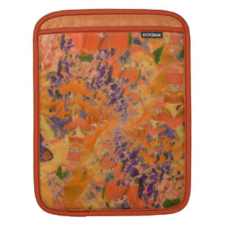 Orange & Purple Abstract Art, iPad Mini Sleeve