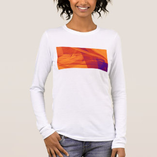 Orange Purple Abstract Background for Design Long Sleeve T-Shirt