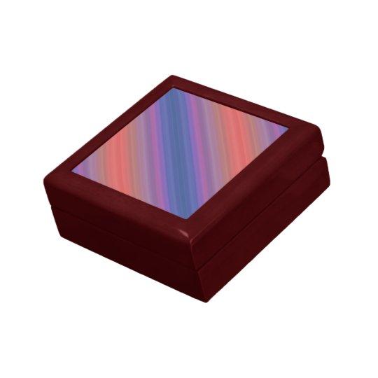 Orange Purple and Blue Diagonal Stripes Design Gift Box