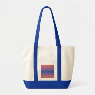 Orange Purple and Blue Stripes Abstract Art Design Impulse Tote Bag