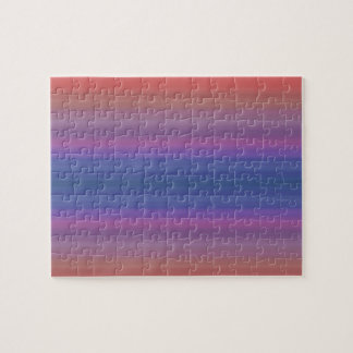 Orange Purple and Blue Stripes Design Jigsaw Puzzle