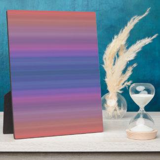 Orange Purple and Blue Stripes Design Plaque