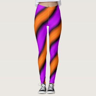 Orange Purple Bamboo Leggings