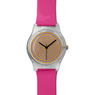 Orange & Purple Concentric Circle Tunnel Watch