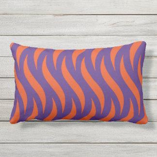 Orange & Purple Design Outdoor Pillow