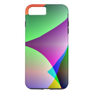Orange Purple Green Abstract iPhone 7 Plus Case