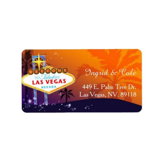 Orange Purple Las Vegas Wedding