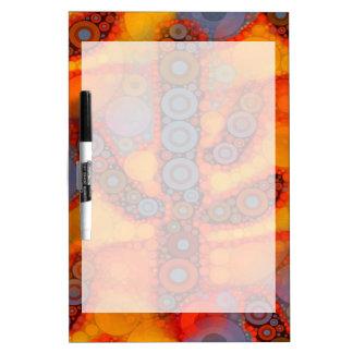 Orange Purple Southwestern Saguaro Cactus Mosaic Dry-Erase Whiteboards