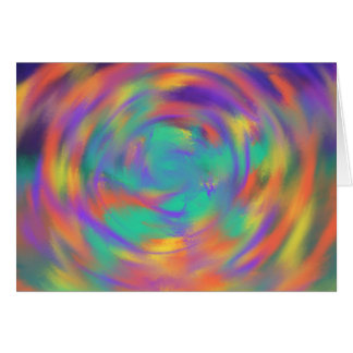 Orange Purple Spiral Abstract Art Painting Design Card