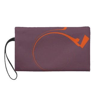 Orange Purple Vintage Painting Abstract Art Deco 2 Wristlet Clutches