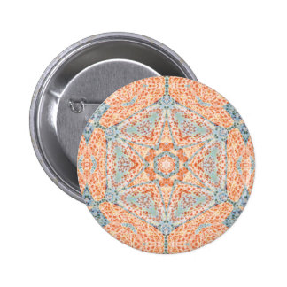 Orange Push-Up Hexagram  Button