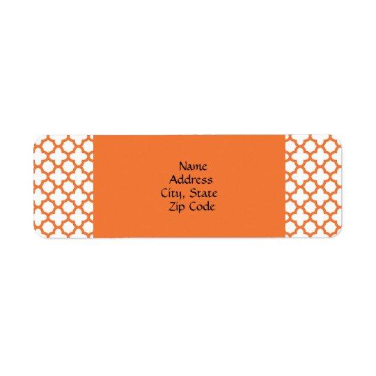 Orange Quatrefoil Pattern