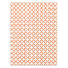 Orange Quatrefoil Pattern Tablecloth