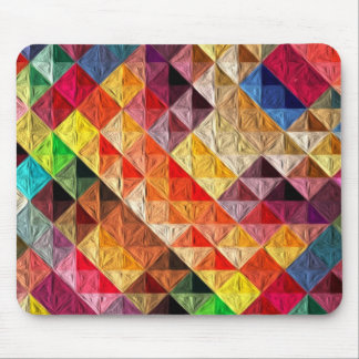 Orange Quilty Mouse Pad