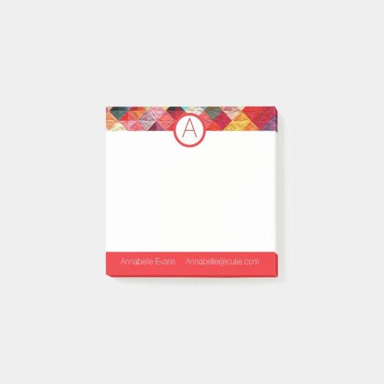 Orange Quilty Post-it Notes