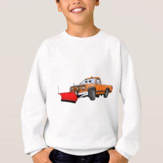 Orange R Snowplow Pick Up Cartoon Sweatshirt