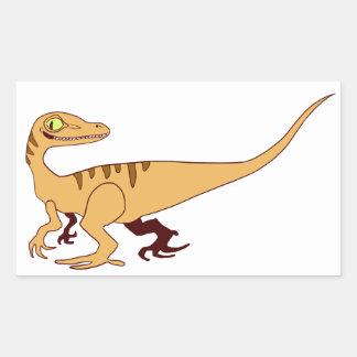 Orange Raptor Sticker