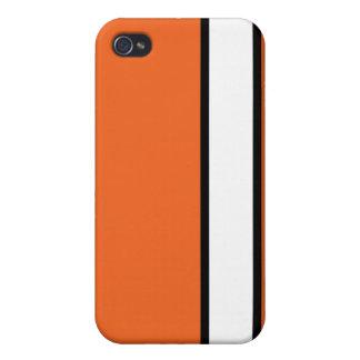 Orange Rebel Stripe iPhone 4/4S Cases