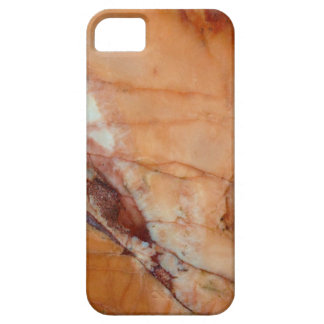 Orange Red and White Marble iPhone 5 Case