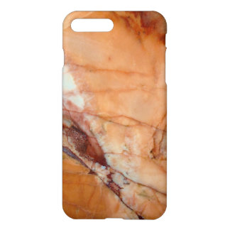 Orange Red and White Veined Marble iPhone 8 Plus/7 Plus Case