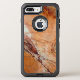 Orange Red and White Veined Marble OtterBox Defender iPhone 7 Plus Case
