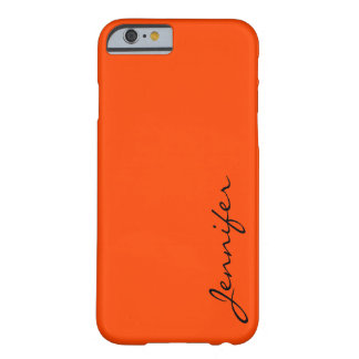 Orange-red colour background barely there iPhone 6 case