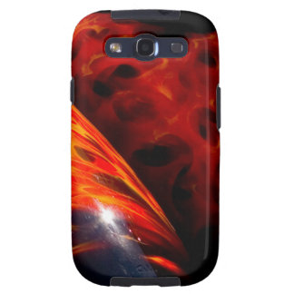 Orange Red Flames Paint Classic Car Bumper Samsung Galaxy SIII Cases