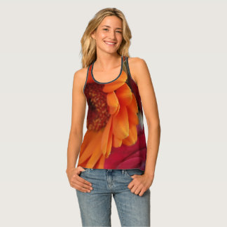Orange Red Flowers Floral Photography Tank Top