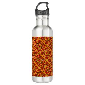 Orange & Red Hand Drawn Pattern 710 Ml Water Bottle