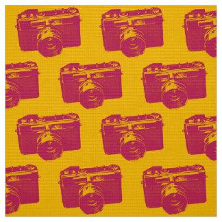 Orange & Red Pop Art Camera Fabric
