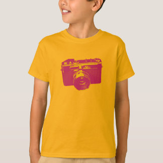 Orange & Red Pop Art Camera T-Shirt