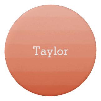 Orange Red Shades Horizontal Stripes Youthful Eraser