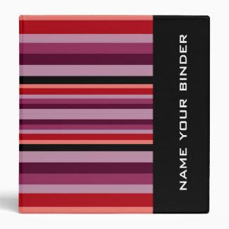 Orange  & Red Stripes Binder