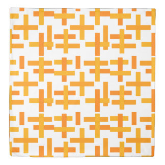 Orange Retro Abstract Duvet Cover