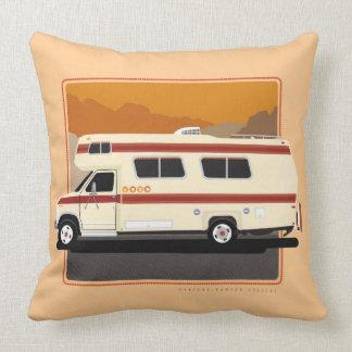 Orange Retro Camper Pillow