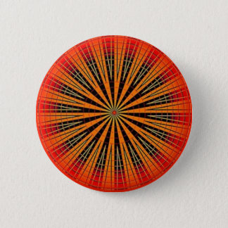 Orange Retro Disk 2 Inch Round Button