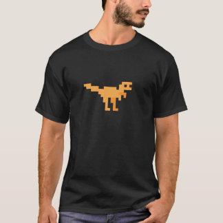 Orange retro pixel dino. T-Shirt