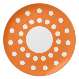 Orange Retro Plates
