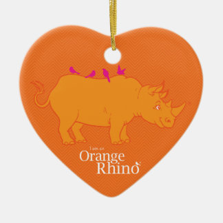 Orange Rhino Ornament