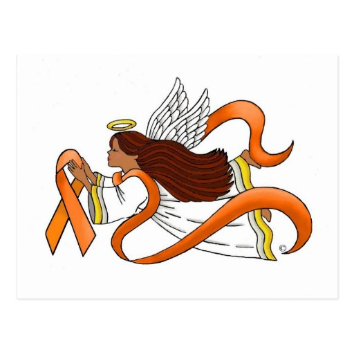 """Orange Ribbon"" Ethnic Awareness Angel Post Cards"