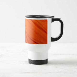 Orange ribbon travel mug