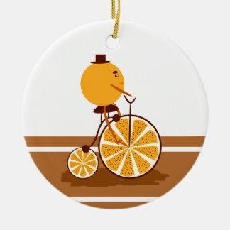 Orange ride ceramic ornament